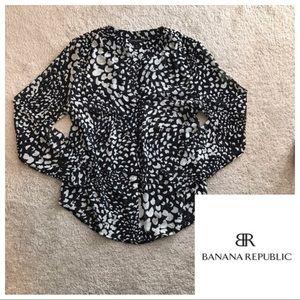 BR v-neck button down blouse